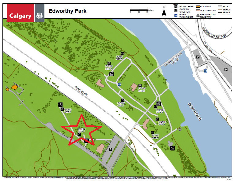Edworthy Park Map